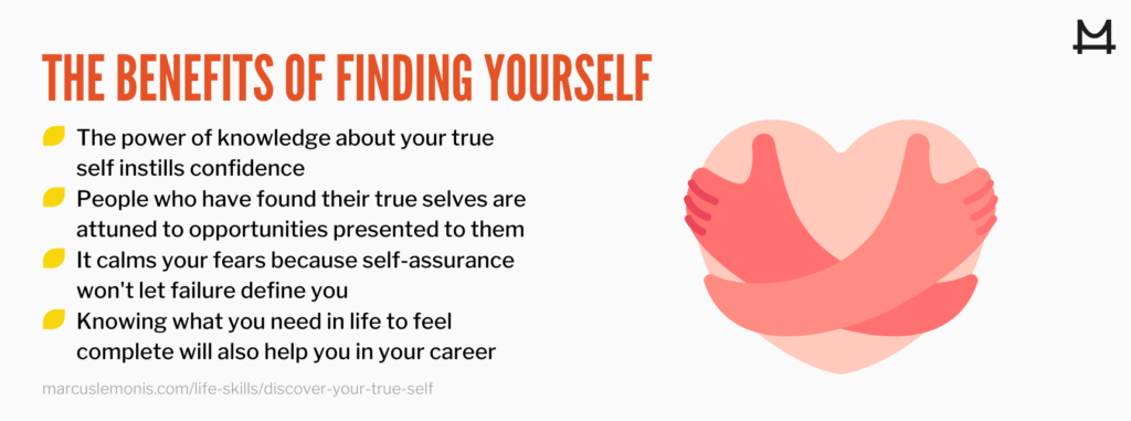 List of benefits that result from finding yourself