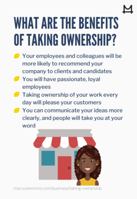 List of benefits of taking ownership