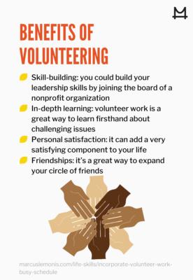 List of benefits of volunteering