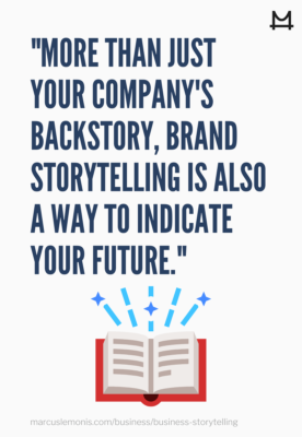 The definition of brand storytelling.