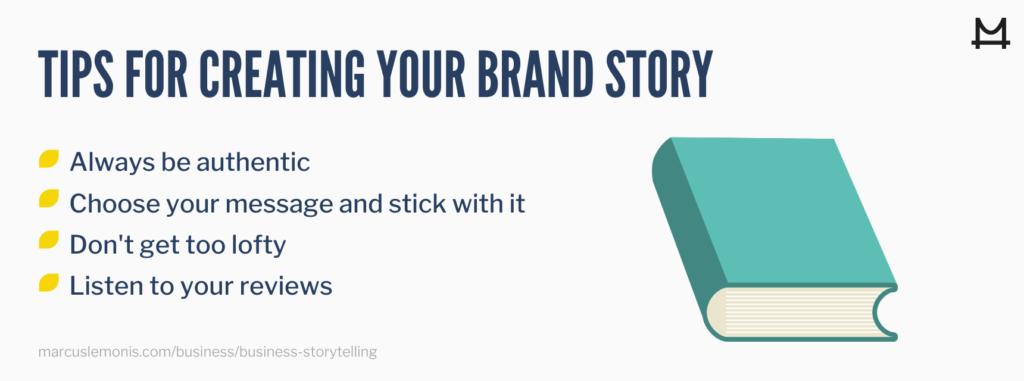 Tips for brand storytelling.