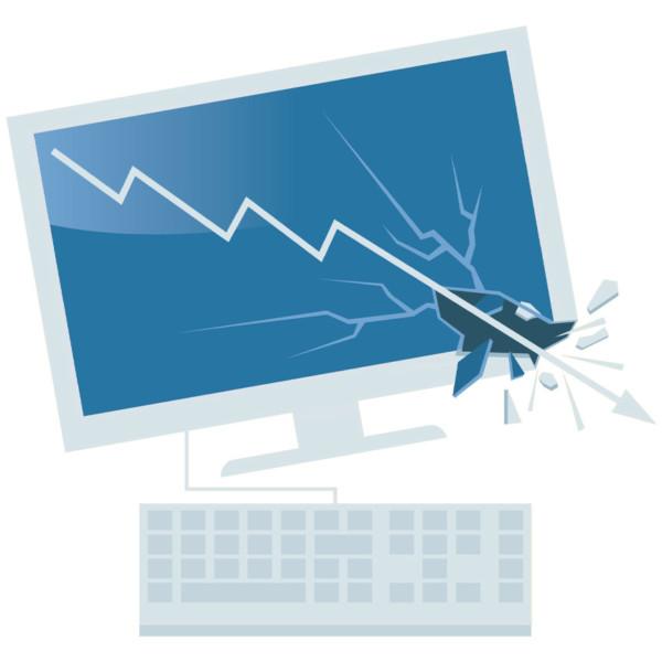 Broken desktop as a result of partner damage
