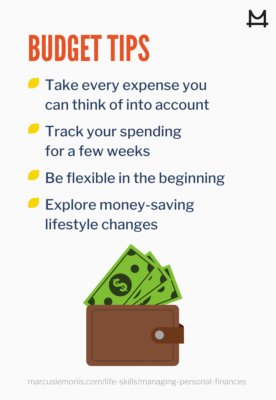 List of budget tips