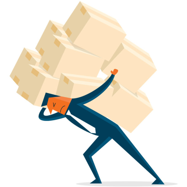 Image of someone carrying boxes.