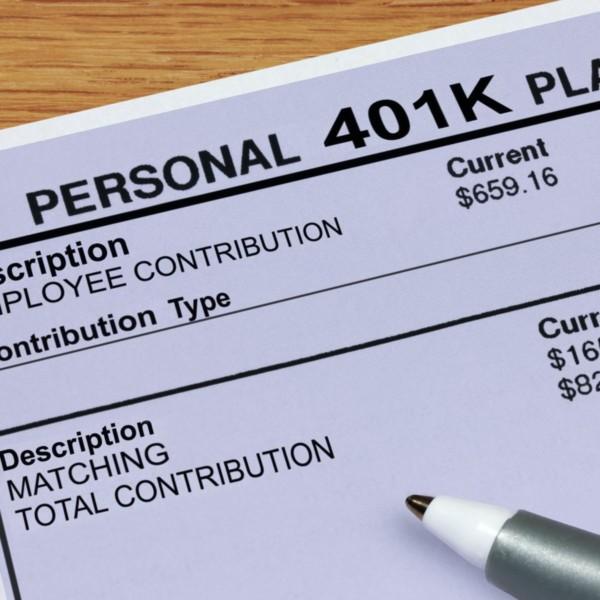 Close-up of a 401K plan
