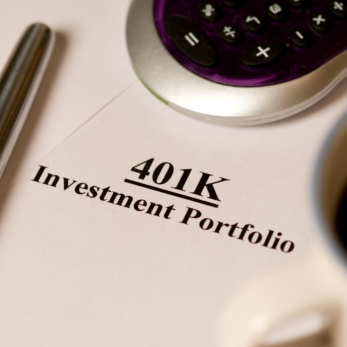 Close-up of the cover of a 401k investment portfolio