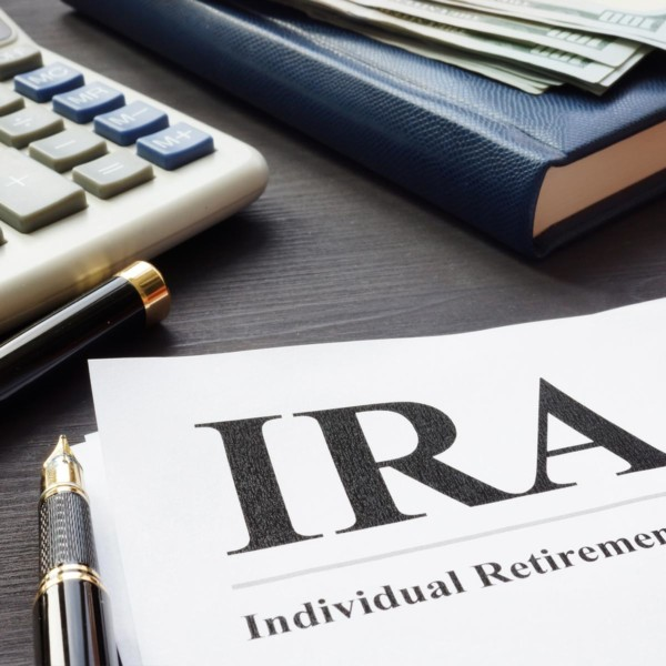 Close-up of an IRA document