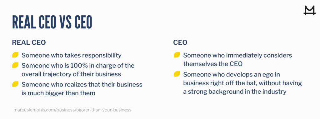 Comparing the difference between a real CEO and just someone with the title of CEO