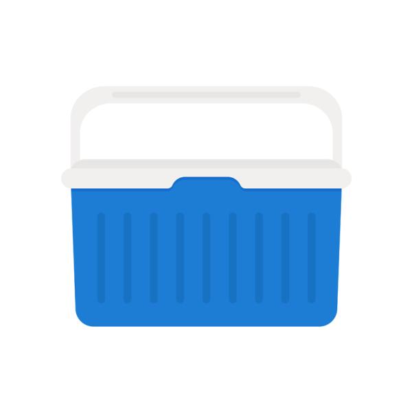 a blue cooler