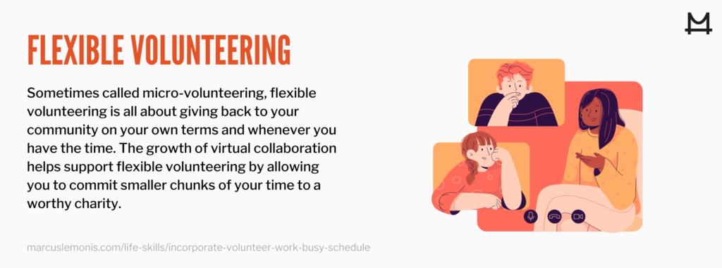 The definition of flexible volunteering
