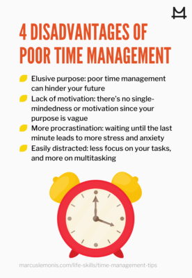 4 disadvantages that can happen due to poor time management