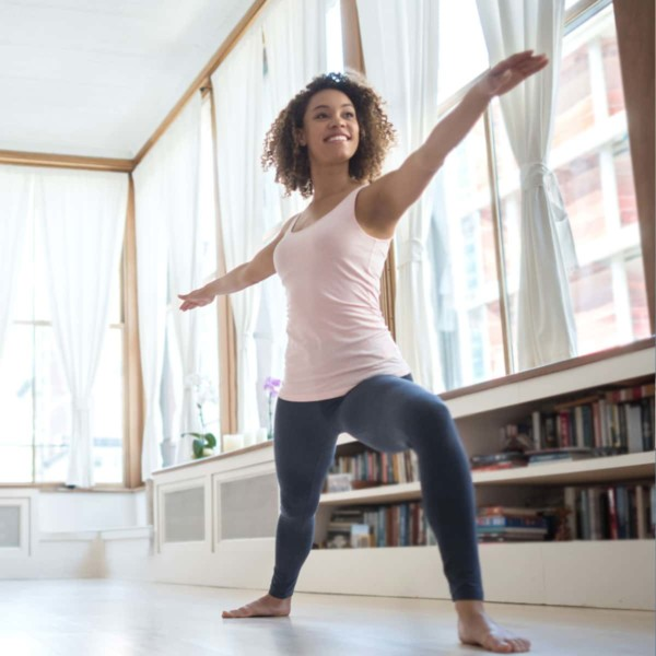 Image of someone doing yoga.