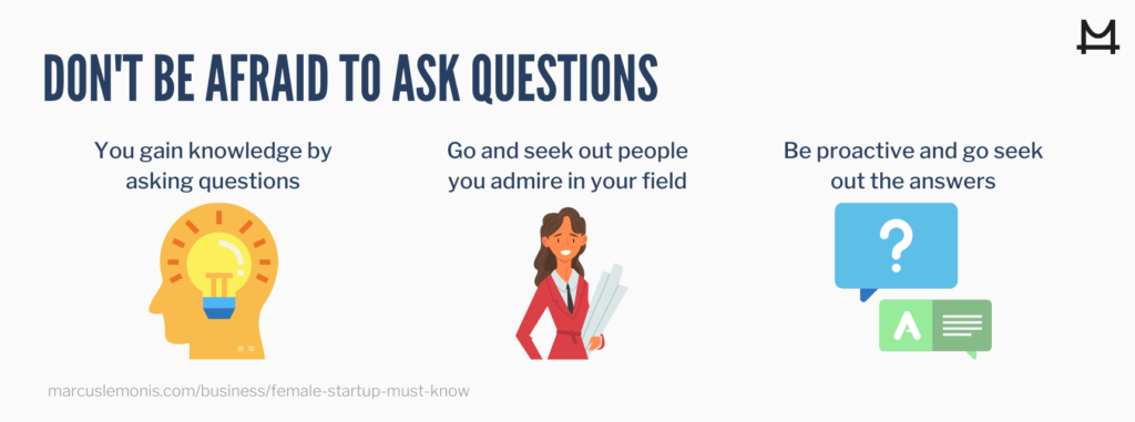 List of ways that you don't have to be afraid while asking questions