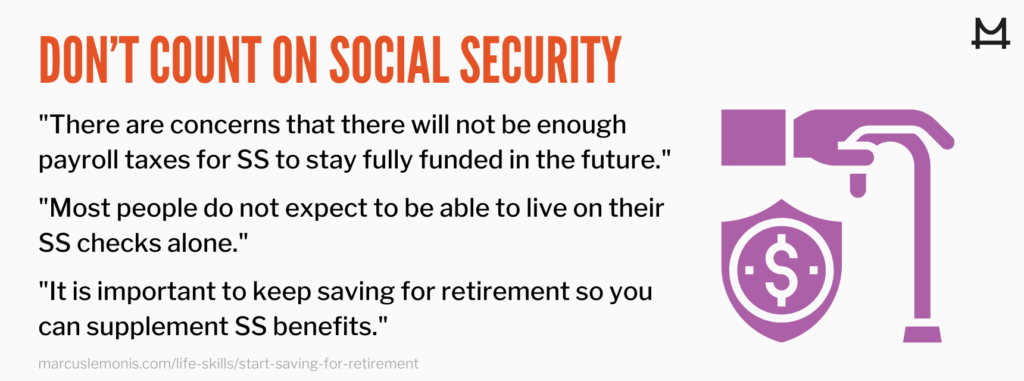 Reasons to not count on Social Security