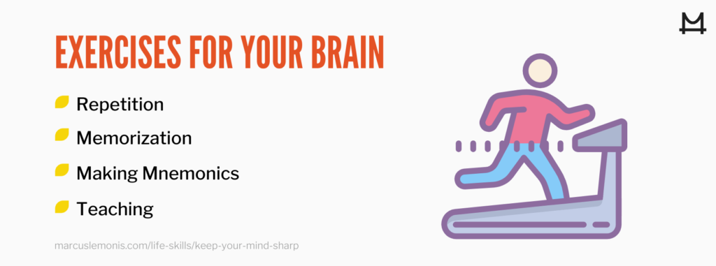 List of exercises for your brain.
