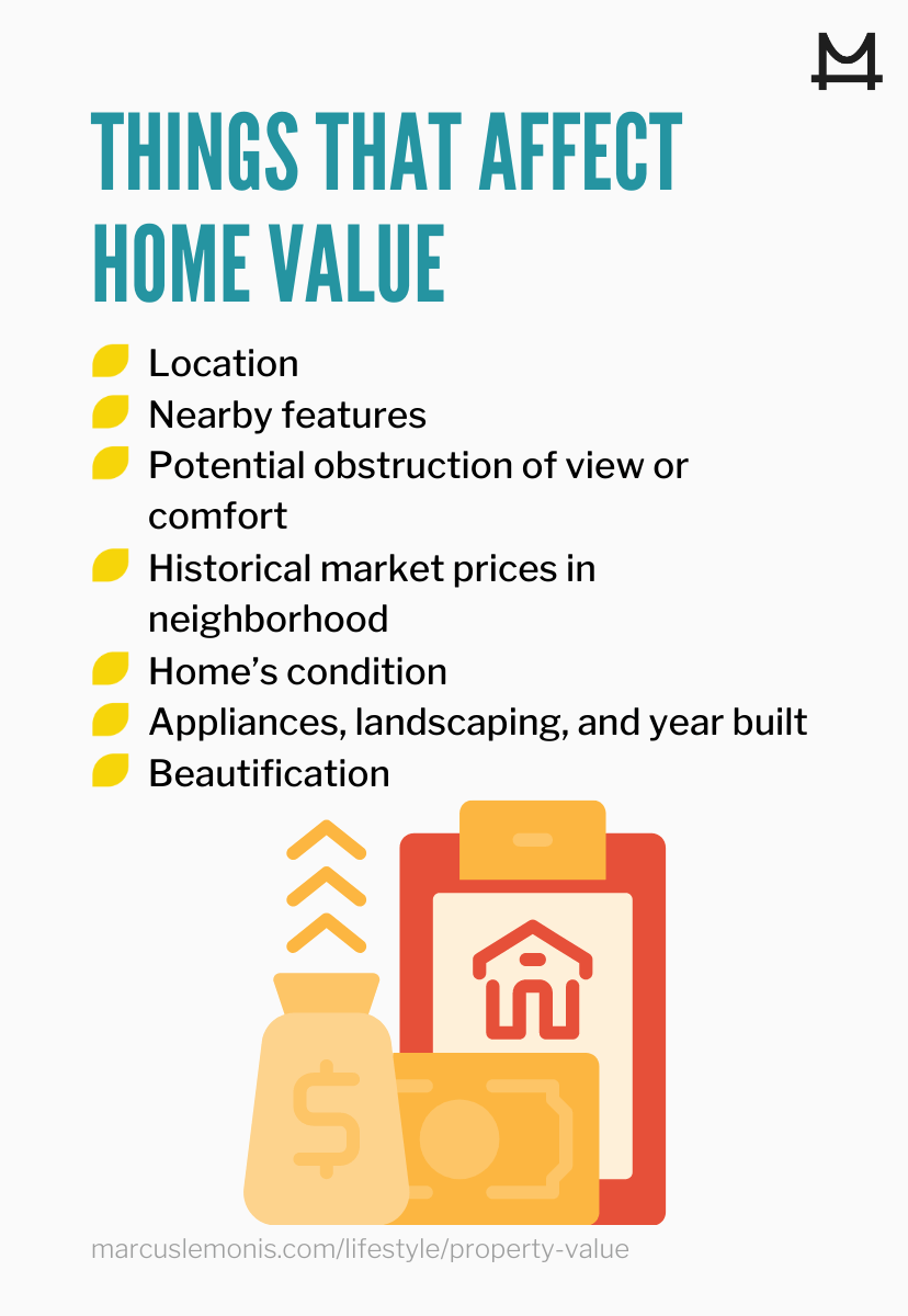 List of 7 factors that influence the value of your home