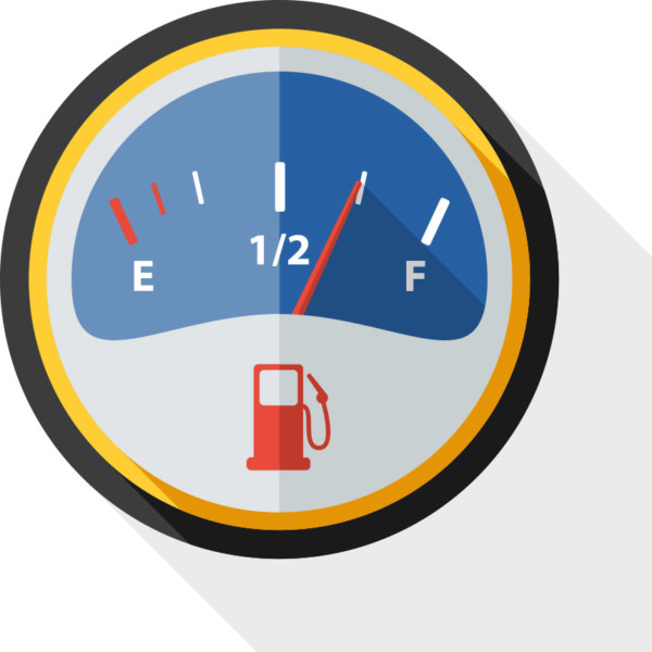 Image of dashboard gas meter
