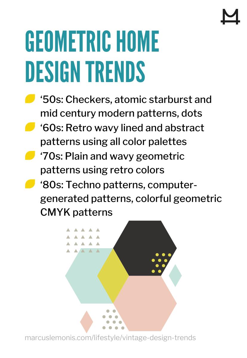 List of geometric trends making a comeback.