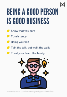 Why being a good person is good for business.