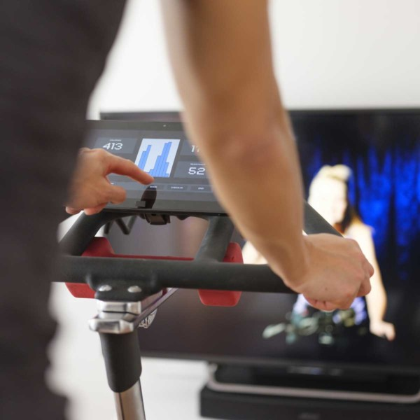 Image of someone on an exercise bike.