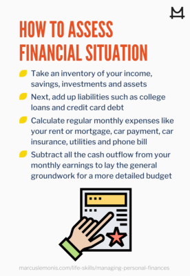 List of ways to assess your financial situations