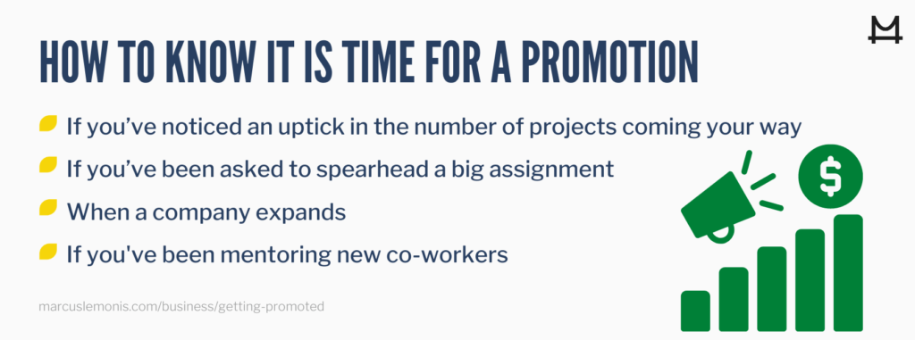 The different signs that tell you it's time for a promotion.