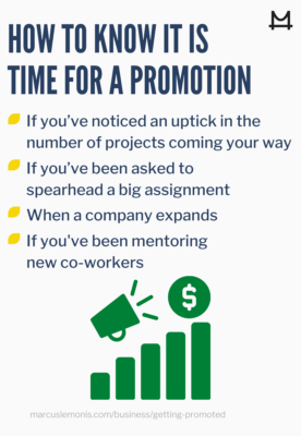 he different signs that tell you it's time for a promotion.