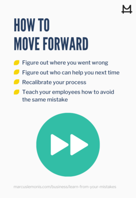 How to move forward after a mistake.