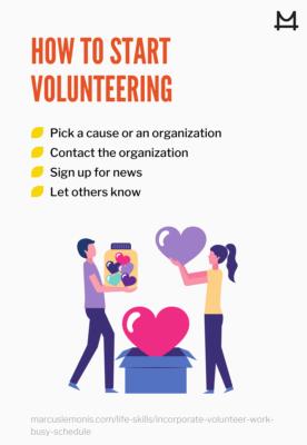 List of ways on how to start volunteering