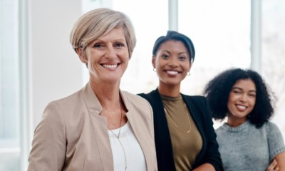 image of three women in a office