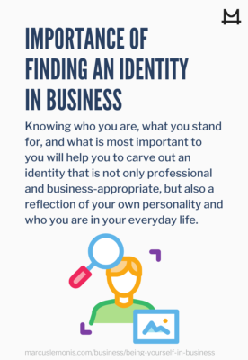 List of ways to find an identity in business