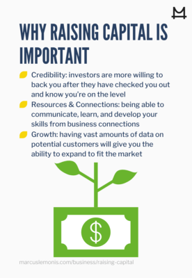 LIst of reasons why it is important to raise capital