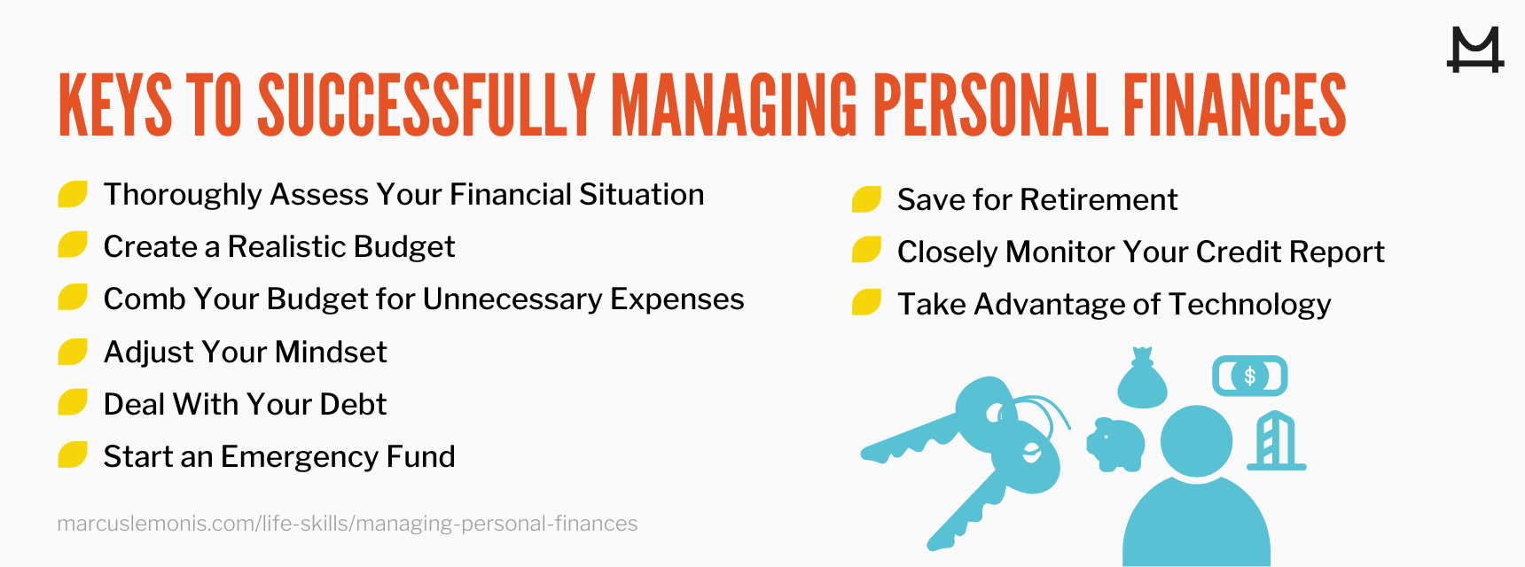 List of ways on how to successfully manage your personal finances