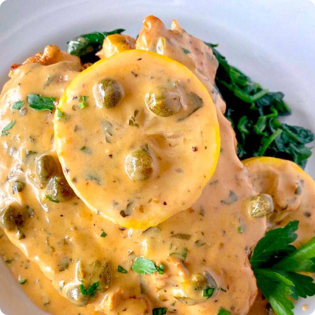 Image of Chicken Lemonis dish.