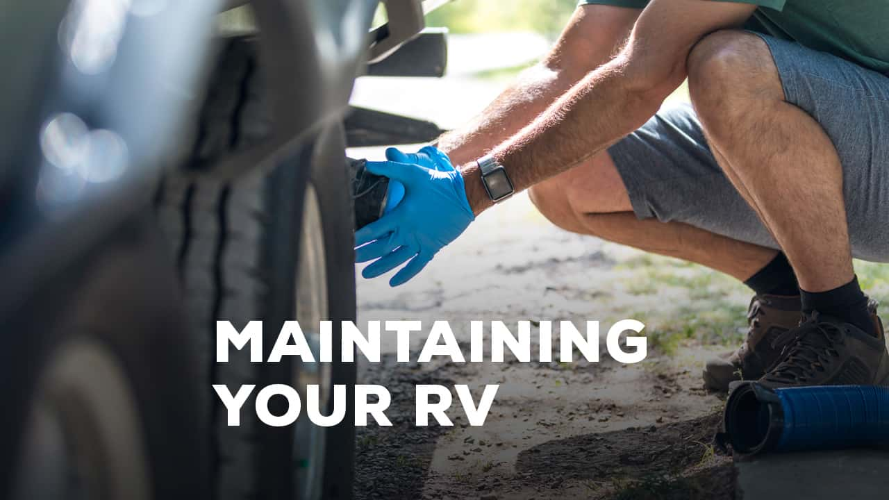 Image of someone working on an rv.