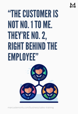 A quote from Marcus about the importance of employees.
