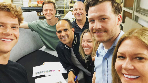 Image of Marcus Lemonis with the team at Grafton Furniture.