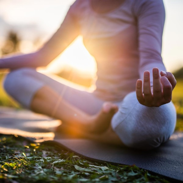 Image of someone meditating.