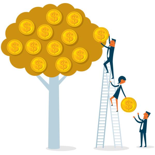 mage of money growing on tree