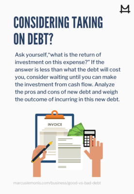 List of questions you should be asking when taking on more debt