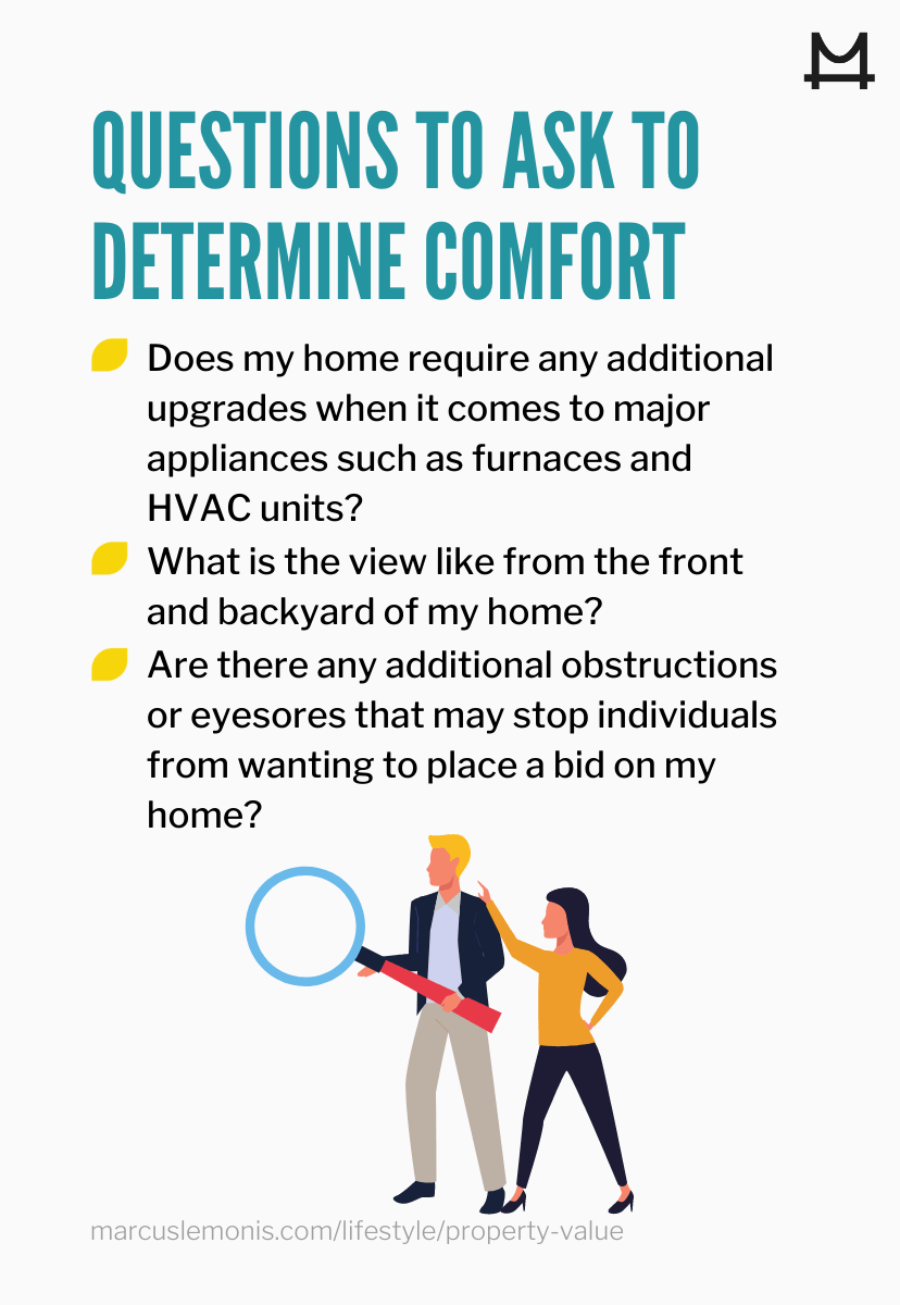 List of questions to ask to determine the comfort level of your home