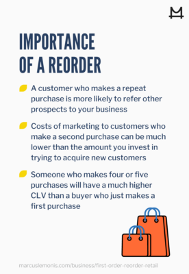 List of 3 reasons why a reorder is important.
