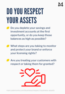 Questions to ask and see if you respect your assets.