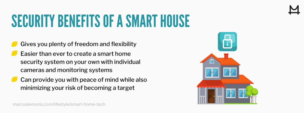 List of the security benefits from having a smart home