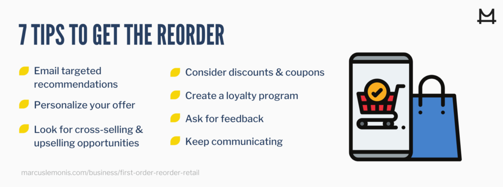 List of seven tips to get the reorder.