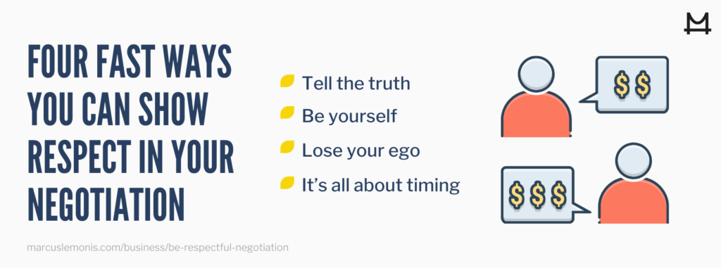 The four fast ways you can show respect in your negotiation.