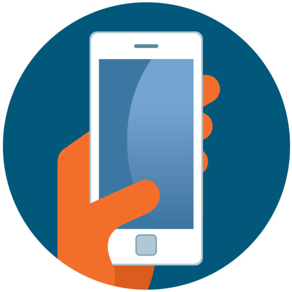 Image of a hand holding a smartphone.