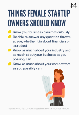 List of things that every female startup owner should know about
