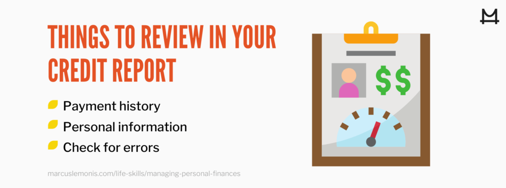 List of things you should review in your credit report