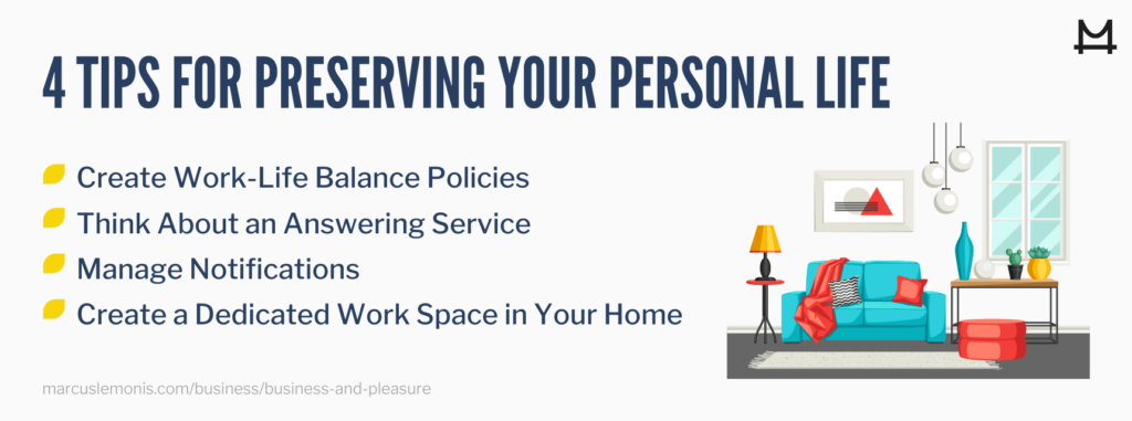 List of tips for preserving your personal life.